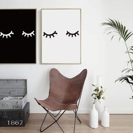 abstraktes gesicht malerei leinwand Rabatt 07G Schwarz Und Weiß Abstrakte Einfache Augen Gesicht A4 A3 Leinwand Malerei Kunstdruck Poster Bild Wall Office Home Decoration Wandbild