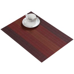 Wholesale slip resistant table cloth - 4Pcs lot Placemat national style Pvc Dining Table Mat Disc Pads Bowl Pad Coasters Waterproof Table Cloth Pad Slip-Resistant Pad