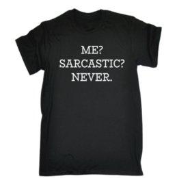 Me, Sarcastic - T-shirt de couleur noire Vêtements de haute qualité avec un style d'image élégant T-shirt à manches courtes ? partir de fabricateur