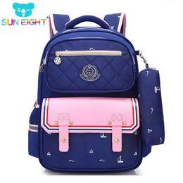 SUN EIGHT Orthopedic Fashion Children School Backpack School bags For Boys  girl Waterproof Backpack Kids School bag Y18120303 5b53da15ae
