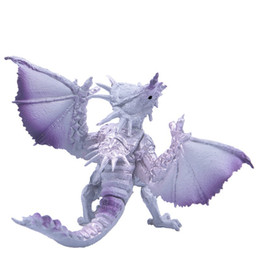 Wholesale toys dinosaurs dragon - Dinosaur Model Simulation Dragon Children Animal Toys Gift Kid Static State Plastic Cement Toy Hot Sale 2 2db V