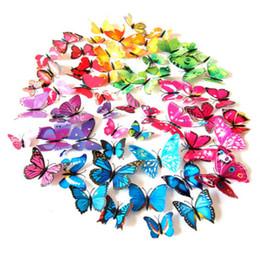 2019 aimants super forts n52 HOT 12 pcs 3D PVC Papillon Art Design Decal Stickers Muraux Autocollants Décor À La Maison DIY Chambre Magnétique Nouveau
