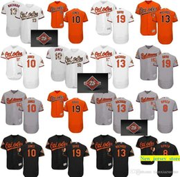 Argentina 2019 Orioles para hombre 100% camisetas cosidas 10 Adam Jones 13 Manny Machado 8 Cal Ripken 19 camisetas de béisbol Chris Davis cheap chris davis jersey Suministro