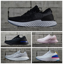 Wholesale instant black - 2018 New Top Epic React AQ0067 Instant Go Fly Breathable Mens Women Running Shoes Athletic Mesh Casual Sport White Black Sneakers Eur 36-45