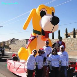 Beau chien jaune gonflable de chien de la publicité 3m / 5m pour la visite / exposition ? partir de fabricateur