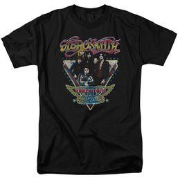 Étoiles chemises hip hop en Ligne-Aerosmith World Tour Triangle Stars Sous Licence Adulte T-shirt Hip Hop Nouveauté T-shirts Vêtements Homme