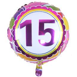 Wholesale Cheap Baby Supplies - Custom Cheap 18inch number round aluminium balloon baby birthday foil balloons boy baby girl air balloon birthday party supplies
