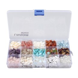 chip stone jewelry wholesale Coupons - 15 Assorted Chips Stone Crushed Chunked Crystal Pieces Irregular Stone Shaped Loose Beads In Bulk Value Pack Box Set jewelry Free DHL G939F