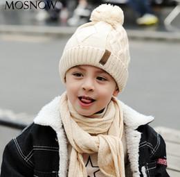 a7257d0e34d kid shawl crochet 2019 - Boys girls hat scarf sets winter new kids tassel  pompon knitted
