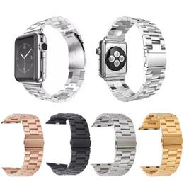 Correa de pulsera de eslabones de banda de acero inoxidable para Apple Watch serie iWatch 1 2 3 38 mm / 42 mm desde fabricantes