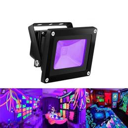 fuentes neon del partido Rebajas UV Light Blacklight High Power 10W 20W 30W UV LED Reflector impermeable para suministros para fiestas Resplandor de neón en la lámpara del acuario de pesca oscura