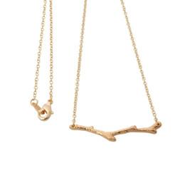 Canada 2018 forme de plante plaqué or collier Longue branche pendentif collier pour les femmes cadeaux en gros livraison gratuite Offre