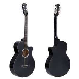 "Wholesale High Beginner - High Quality 38"" Acoustic Guitar 6 Strings Folk Guitar for Beginners Students Gift"