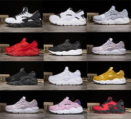 Wholesale Shoes Online - 2018 New Air huarache 1 triple white black huarache men & women running shoes Trainers sports sneaker For online hot sale US5.5-11