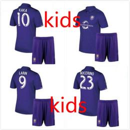 Wholesale Boys New York - 2017 kids New York City DAVID PIRLO IRAOLA soccer jersey 17 18 ORLANDO CITY KAKA SHEA LARIN football shirts 10 free send DHL