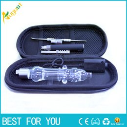 Wholesale micro titanium - Electronic Vaped Micro Nectar Collector kit ultra-portable smoking water pipe glass bongs with Titanium nail USB Charger for ego new hot