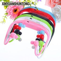 Wholesale Ear Loops Wholesale - XINYUANSHUNTONG MP3 Sports Running Ear Hook Headphone MP3 Player FM Headset Loop TF Card 32GB