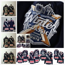 Wholesale Red Ads - 2018 AD Winter Classic Gear blank Men Ryan McDonagh Hockey Jerseys 30 Henrik Lundqvist 36 Zuccarello Rick Nash Jimmy Vesey NY Rangers Jersey