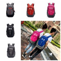 Wholesale tennis backpack wholesale - Under Backpacks Travel Outdoor Sports Bags 7 Colors 48x30x25cm Armour Teenager Students School Bag Laptop Bag OOA5307