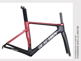 Wholesale Chinese Roads - Free Shipping Chinese Carbon Road Frame 2018 newest Deacasen red Carbon Bike Frame Matte UD BRETON