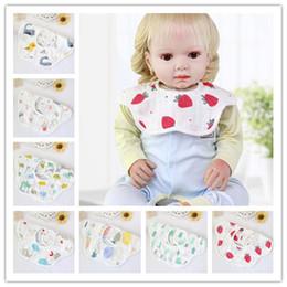 floral cotton layer Australia - 2018 4 Layers Cotton Gauze Toddler Bib 360 Rotate Floral Infant Burp Cloths Summer Boys Girls Baby Bibs Feeding 26*29CM