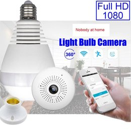 Wholesale Ip Camera Package - Wifi cctv security 1080P camera mini 360 degree IP camera in E27 bulb fit for smart cellphone with retail package