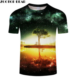 42e91604a40a t shirts water drops Coupons - Tree Inverted reflection in water 3D t shirt  for Men