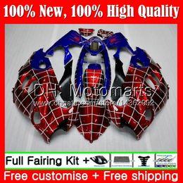 Carenados gsxf online-Cuerpo para SUZUKI Spider-Man KATANA GSXF 600 750 GSXF600 98 99 00 01 02 21MT3 GSX600F GSXF750 1998 1999 2000 2001 2002 Fairing Bodywork HOT