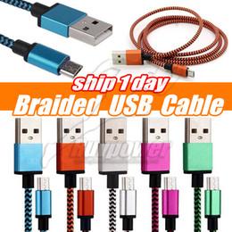 Cables USB V8 Línea de datos micro USB trenzada de aluminio para Samsung S8 note 9 10 S10 Plus Sync Weave Rope Charger Cable Cable desde fabricantes