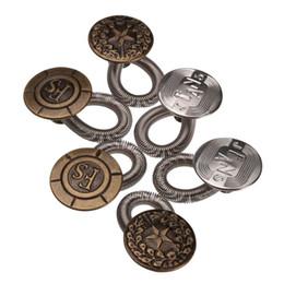 Wholesale pants lock - Men Women Jeans Pants Fix Expanders Waist Stretch Extender Metal Button Lock DIY craft accessories 6pcs set