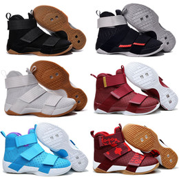 Wholesale Gold Soldier - 2018 New Top Quality Soldier 10 X Men Basketball Shoes Soldiers Shoes Black White Championship Limited Edition Running shoes