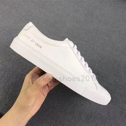 projet de tête Promotion Vente chaude Designers Casual Chaussures Projets Communs Par Femmes Noir Blanc Low Top Chaussures Hommes Femmes Italie Marque Appartements Chaussure Femme Homme