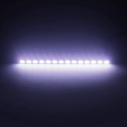 Tira de led carcasa impermeable online-2pcs Fuente de luz del coche DRL Luces de circulación diurna Impermeable Tira llevada Car Styling SMD 7030 Vivienda de aluminio 18 LEDs Luz del día