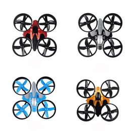 Wholesale rc remote control ufo - Mini UFO Quadcopter Drone Four Axis Headless Mode Children Remote Control Toys Nano RC Helicopter Mode Gift Toy 55bn W
