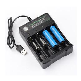 Canada Chargeur de batterie au lithium à charge rapide avec câble USB 4 emplacements de chargement 18650 26650 chargeur de piles rechargeables 18490 Better Nitecore cheap battery charger quick charge Offre