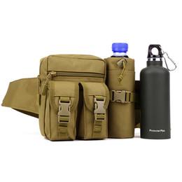Wholesale Molle Bottle - Protector Plus Men's Woodland Tactical Waist Pack Pouch With Water Bottle Pocket Holder Waterproof Molle Fanny Hip Belt Bag