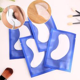 Parche ocular de extensión online-Precio barato 50Pairs Extensiones de Pestañas sin Pestañas Parches de pestañas Parche de papel parche de hidrogel para Parches de papel de extensión de Pestañas