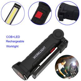 luces de emergencia vintage Rebajas Portátil 5 Modo COB Linterna Antorcha USB Recargable LED Luz de Trabajo Magnética COB Lanterna Colgante Lámpara de Gancho Para Acampar Al Aire Libre