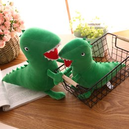 Wholesale Wholesale Christmas Novelty Items - 30cm 12inch Green Dinosaur plush Doll toys 2018 new cartoon Stuffed Animals Dolls Kids Toy Novelty Items AAA487