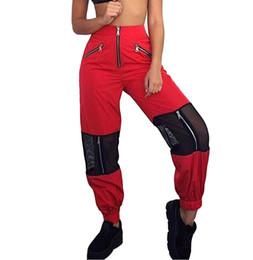 Wholesale ladies loose long pant - Patchwork Loose Women Pants High Waist Zipper Long Pants Female Summer Streatwear Casual Pants Lady Trousers Pantalon Femme
