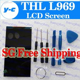 Wholesale Original Thl - Wholesale-THL L969 LCD New 100% Original Display Screen Assembly Replacement for THL L969 MTK6582 Smartphone SG Free Shipping+Track Code