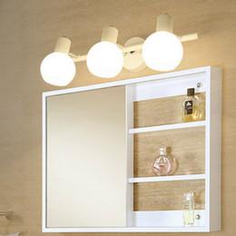 Pinturas led online-Led baño de vidrio Espejo Lámpara de pared moderna de estilo Loft aplique de la pared enciende para arriba abajo Wandlamp de Pintura Cabinethome Iluminación para el hogar