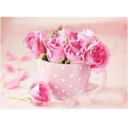 2019 pinturas de flores para sala de estar Super concurso planta pintura diamante diy 5d sala de estar quarto handmade cruz bordado mosaico rosa flor pinturas diamante pinturas de flores para sala de estar barato