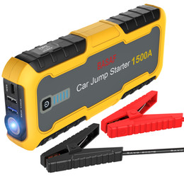 Wholesale Lithium Charger 12v - Car Jump Starter 1500A Peak emergency car battery charger Emergency Portable Lithium Battery Booster Power Pack Type-C Fast Charging