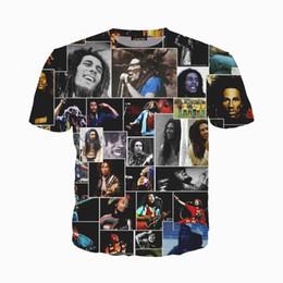 bob marley tops Rabatt Neueste Männer / Frauen 3D Reggae Urheber Bob Marley Print Kurzarm Lustige T-Shirts Harajuku Fitness Casual Tops Hemd U1079