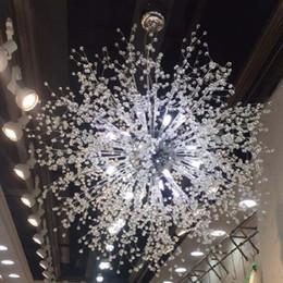 Argentina Moderno Dandelion LED Ceiling Crystal Chandeliers Lighting Globe Ball Lámpara colgante para Comedor Dormitorio g9 Accesorio de iluminación Suministro