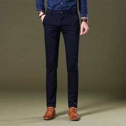 Wholesale good dress pants - Wedding Dress 2017 Brand New Suit Pants Male Good Quality Mens Dress Pants Straight Office Male Trousers