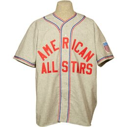 Wholesale numbers stars - American All-Stars 1945 Road Jersey 100% Stitched Embroidery Logos Vintage Baseball Jerseys Custom Any Name Any Number Free Shipping