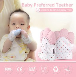 Wholesale Flower Toys - Baby Teething Mitten BPA Free Safe Silicone Teether Toy Mini Mitt Chewable Glove Baby Shower Gift