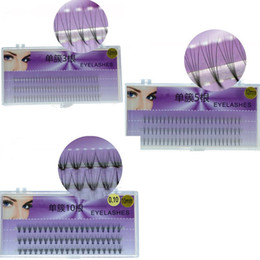 Wholesale cluster lashes - New 3 Styles 3D C curl Individual Cluster EyeLashes Fake False Eyelashes 8 10 12 mm Faux Eye Lashes Makeup Extention